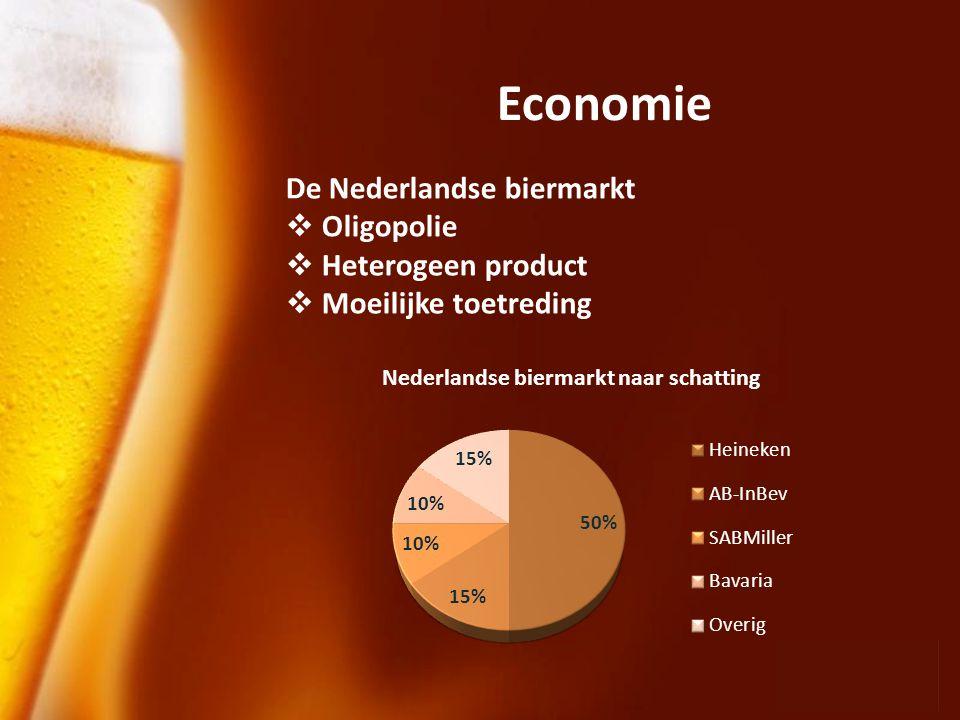 Page 9 Economie De Nederlandse biermarkt  Oligopolie  Heterogeen product  Moeilijke toetreding