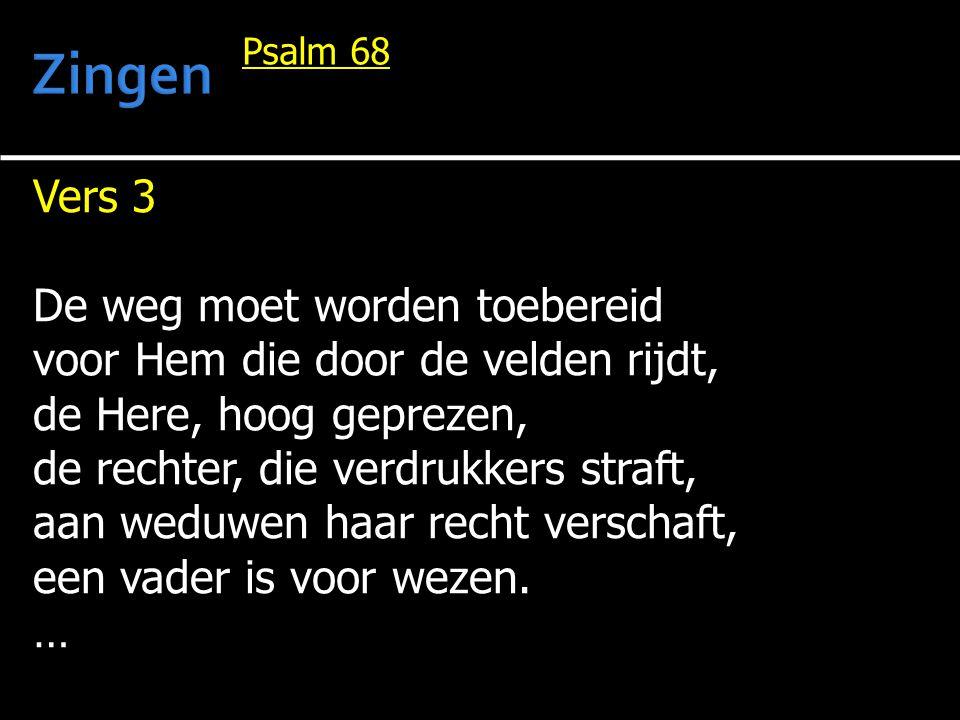… God geeft wie eenzaam is, een thuis, Hij voert gevangenen naar huis, zijn heil wil Hij hun tonen, maar Hij doet al wie Hem verlaat en Hem halsstarrig wederstaat, in dorre streken wonen.