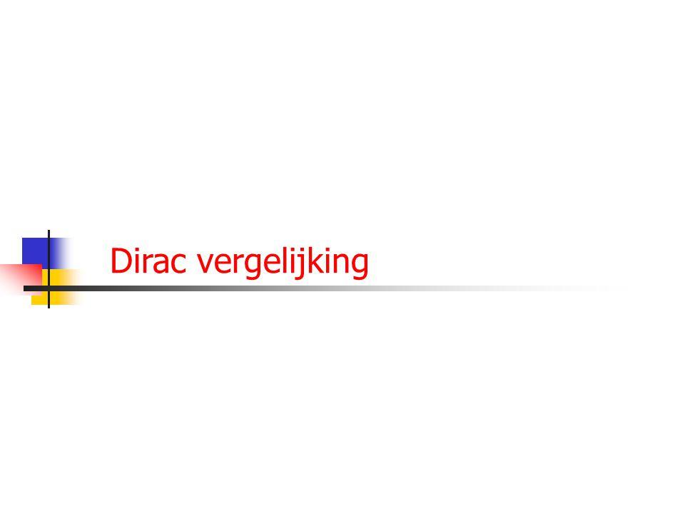 27 Dirac vergelijking