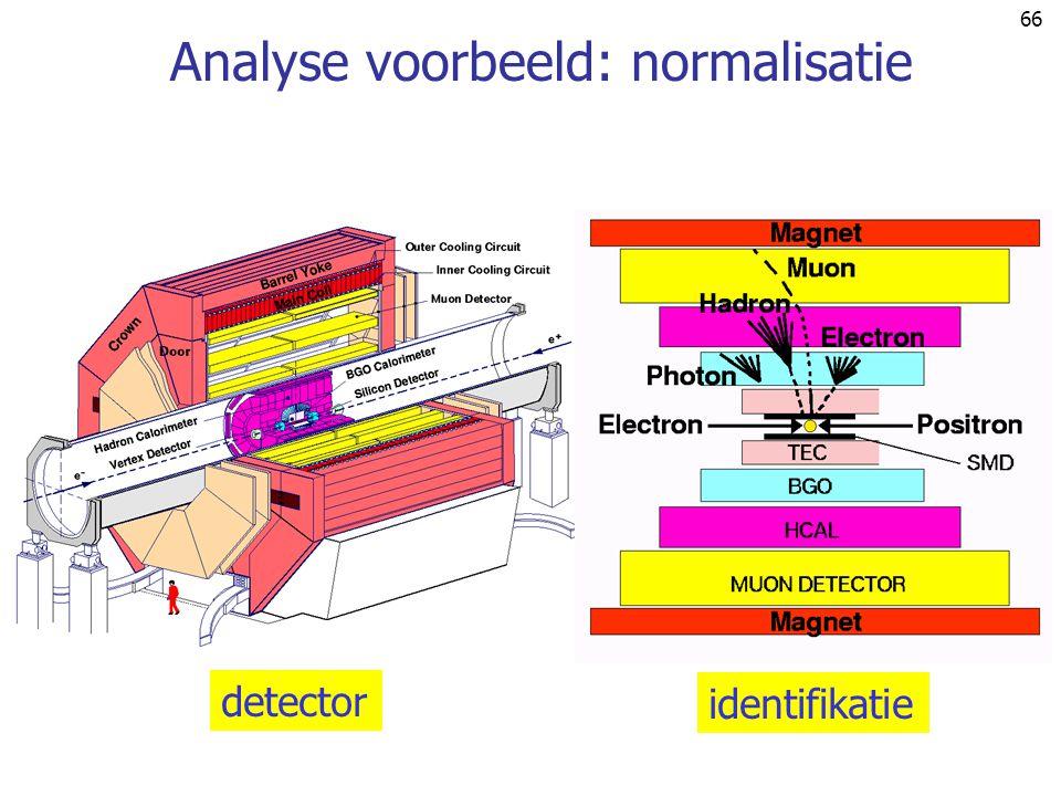 66 Analyse voorbeeld: normalisatie detector identifikatie