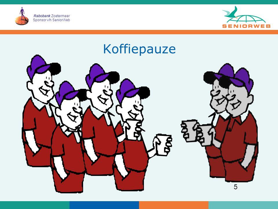 Rabobank Zoetermeer Sponsor v/h SeniorWeb 6 gefeliciteerd! u krijgt allemaal een certificaat