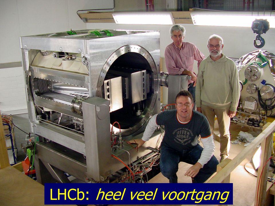 25/33 LHCb: heel veel voortgang