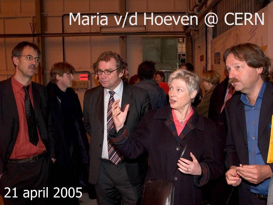 5/33 Maria v/d Hoeven @ CERN 21 april 2005
