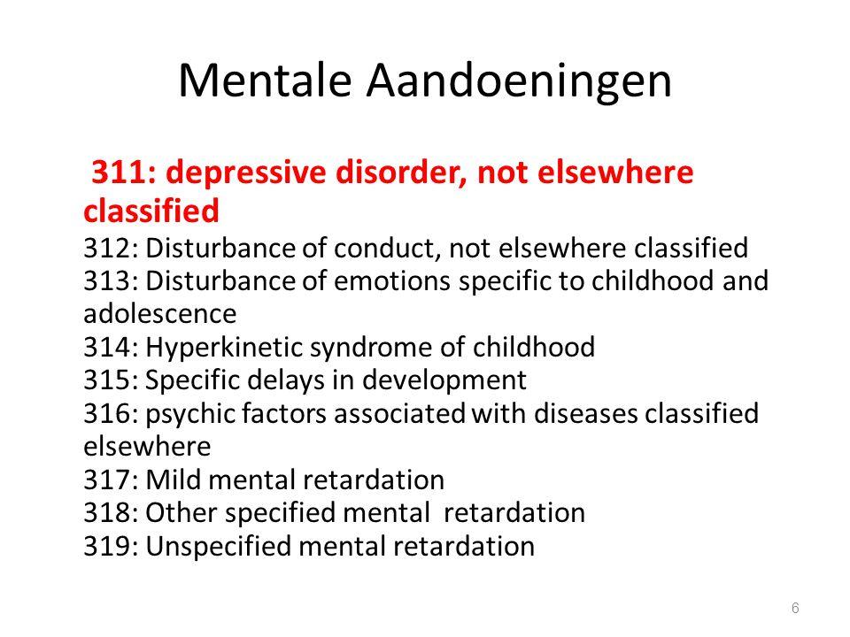 Mentale Aandoeningen 17