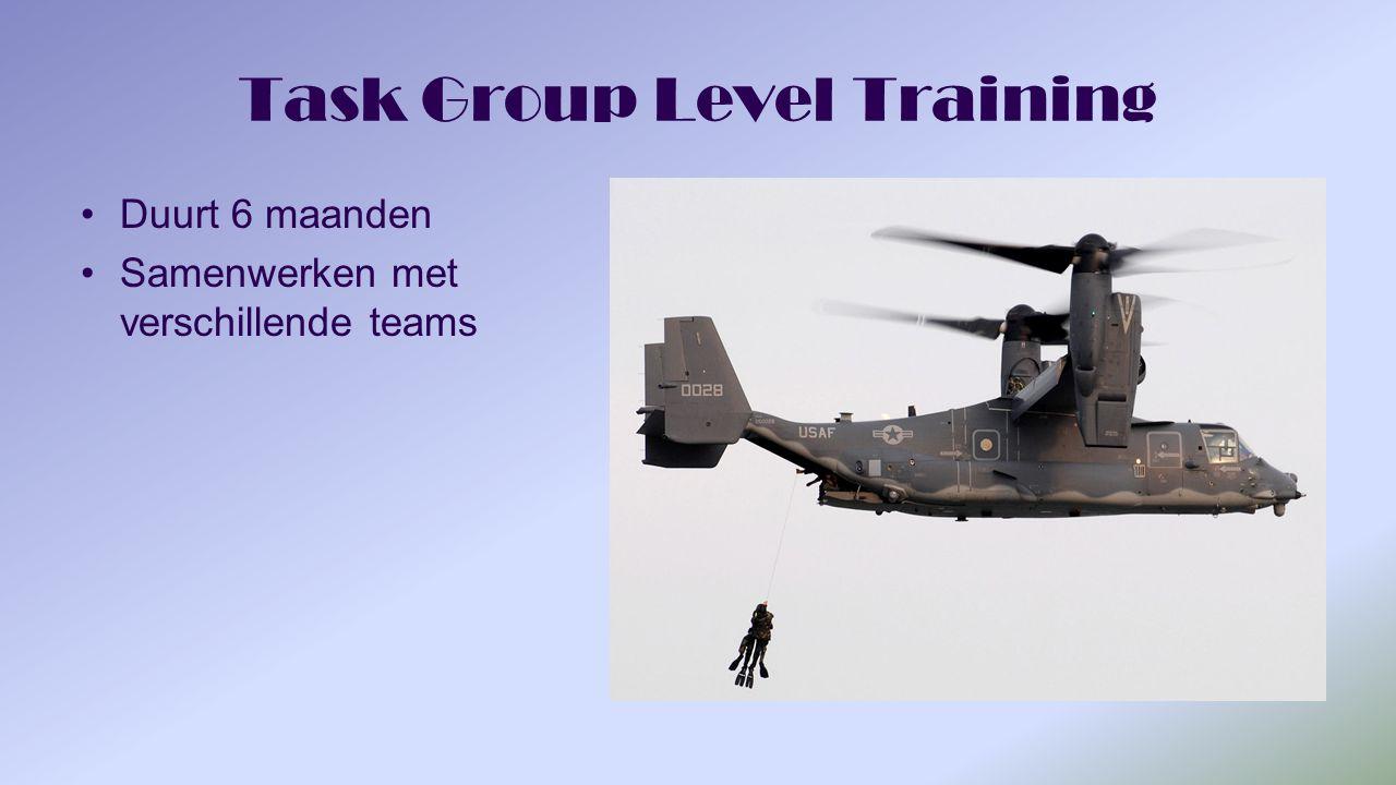 Task Group Level Training Duurt 6 maanden Samenwerken met verschillende teams