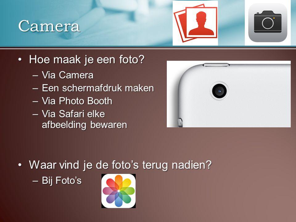 Camera Hoe maak je een foto Hoe maak je een foto.
