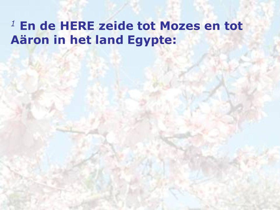 1 En de HERE zeide tot Mozes en tot Aäron in het land Egypte:
