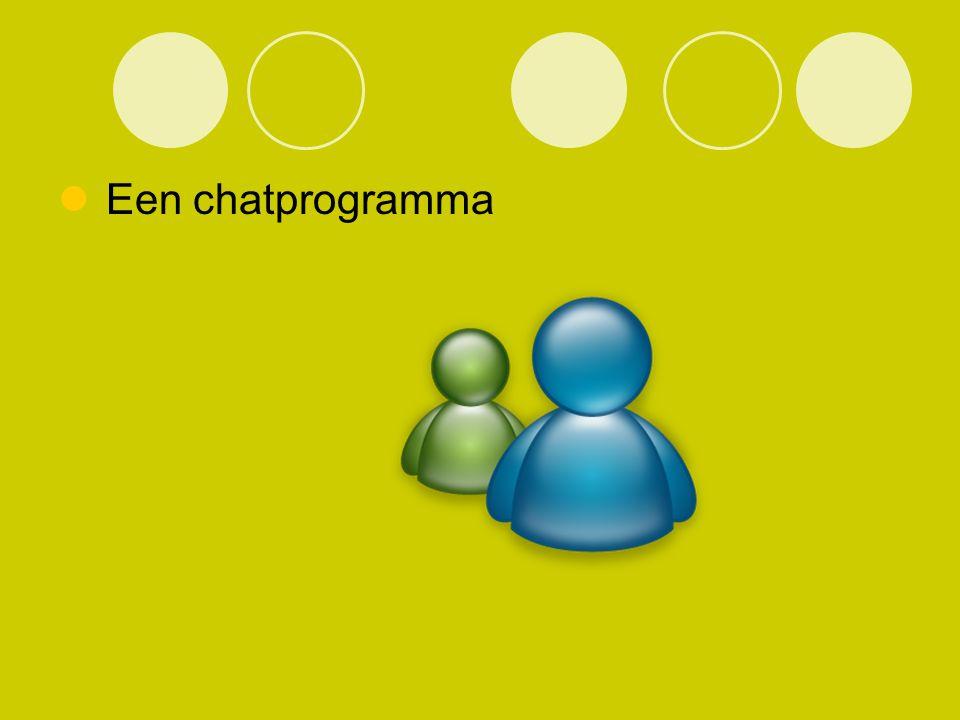 Een chatprogramma