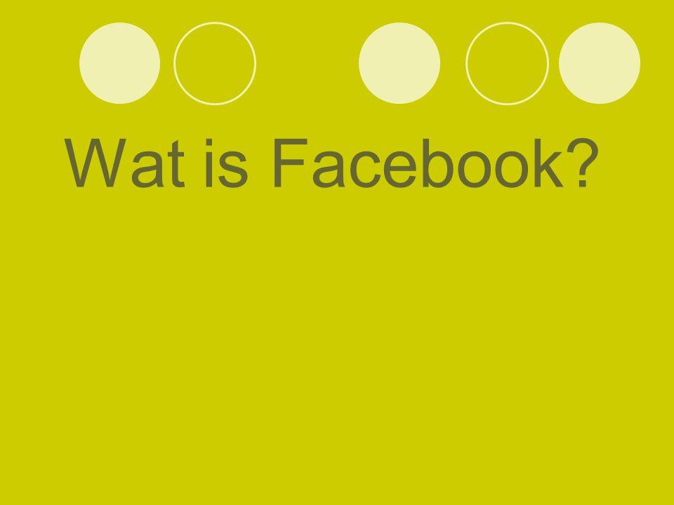 Wat is Facebook?