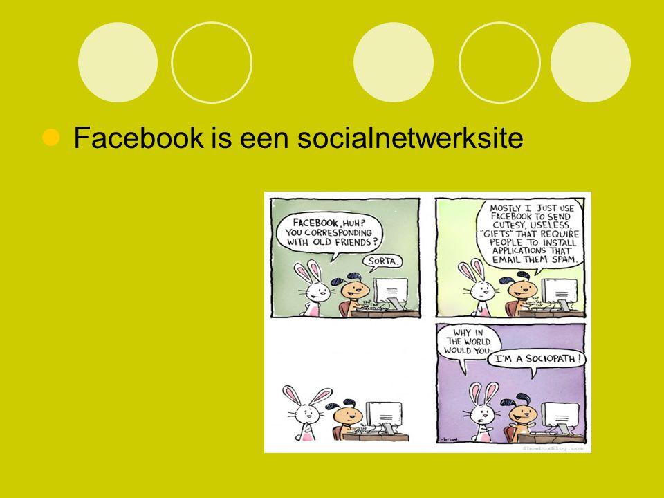 Facebook is een socialnetwerksite