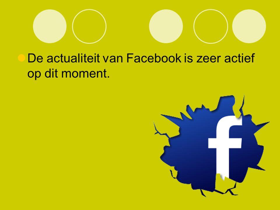 De actualiteit van Facebook is zeer actief op dit moment.