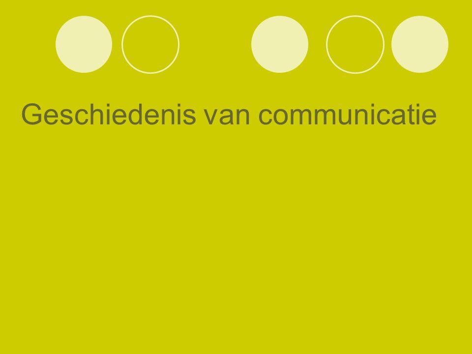 Geschiedenis van communicatie
