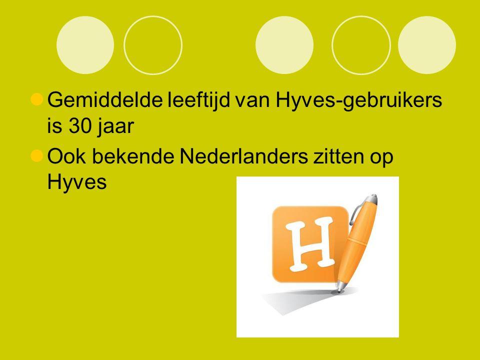 Gemiddelde leeftijd van Hyves-gebruikers is 30 jaar Ook bekende Nederlanders zitten op Hyves