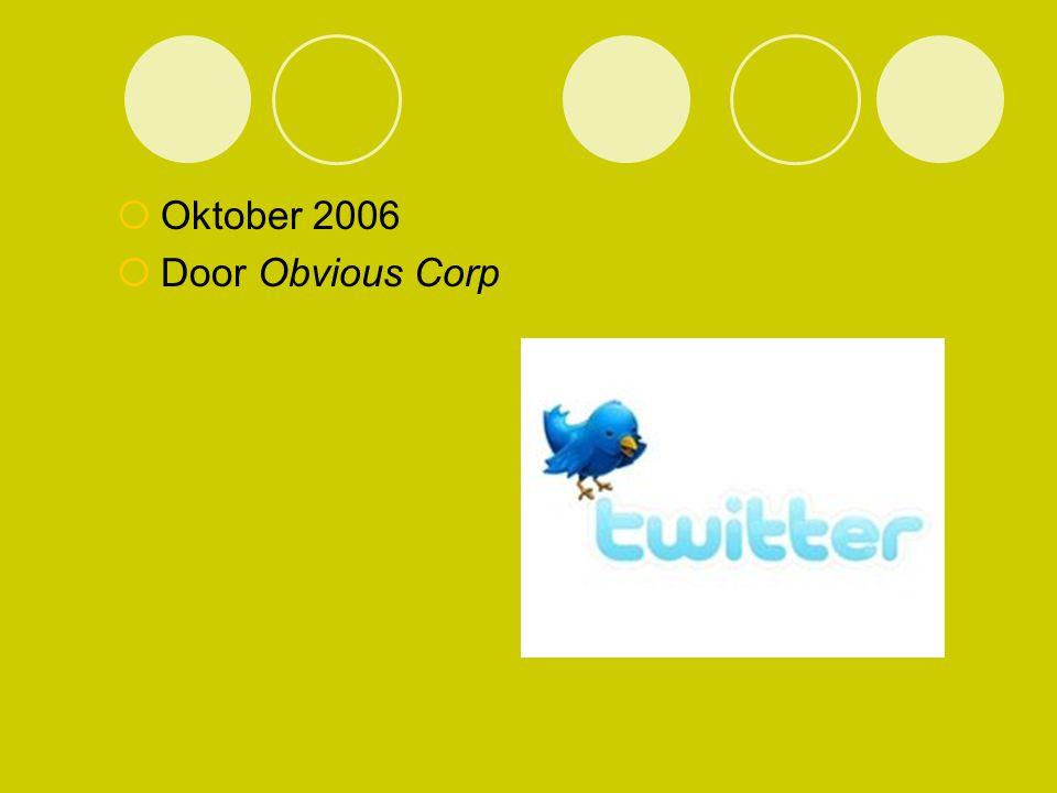  Oktober 2006  Door Obvious Corp