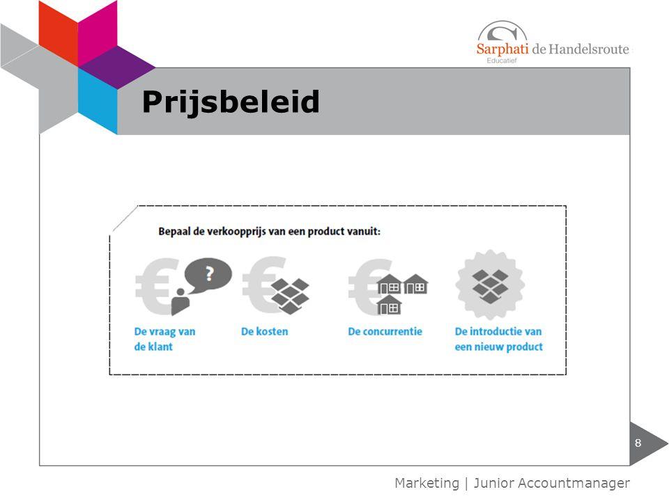 8 Marketing | Junior Accountmanager Prijsbeleid