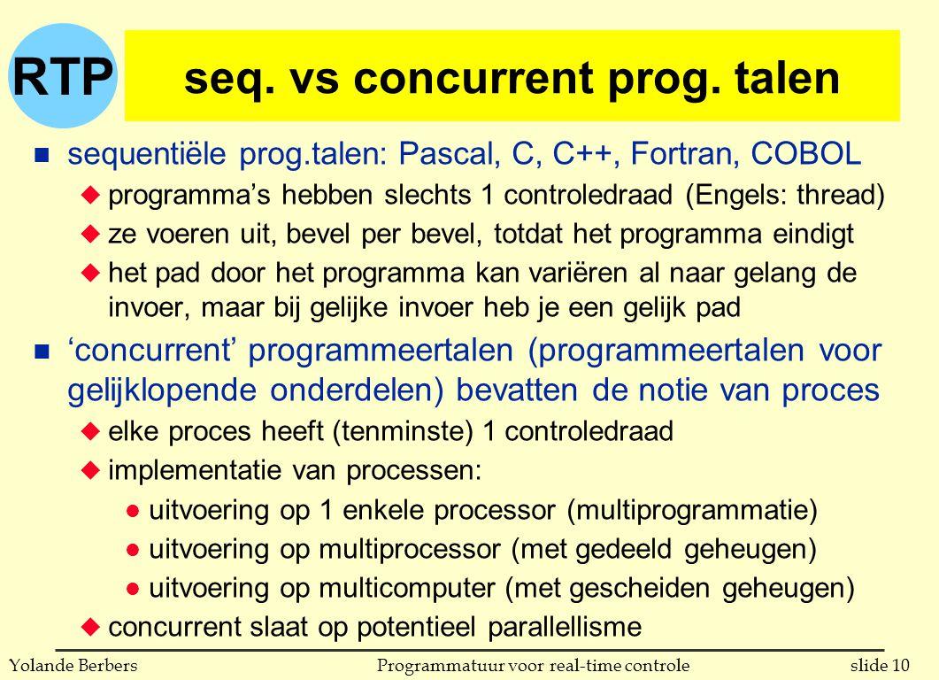RTP slide 10Programmatuur voor real-time controleYolande Berbers seq.