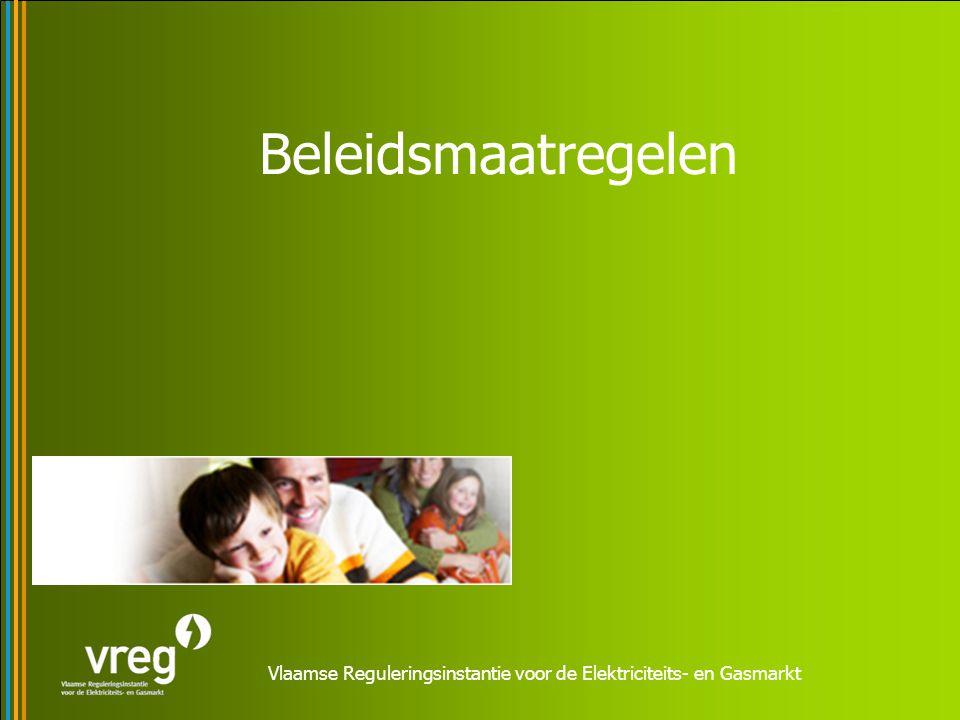 Vlaamse Reguleringsinstantie voor de Elektriciteits- en Gasmarkt Beleidsmaatregelen
