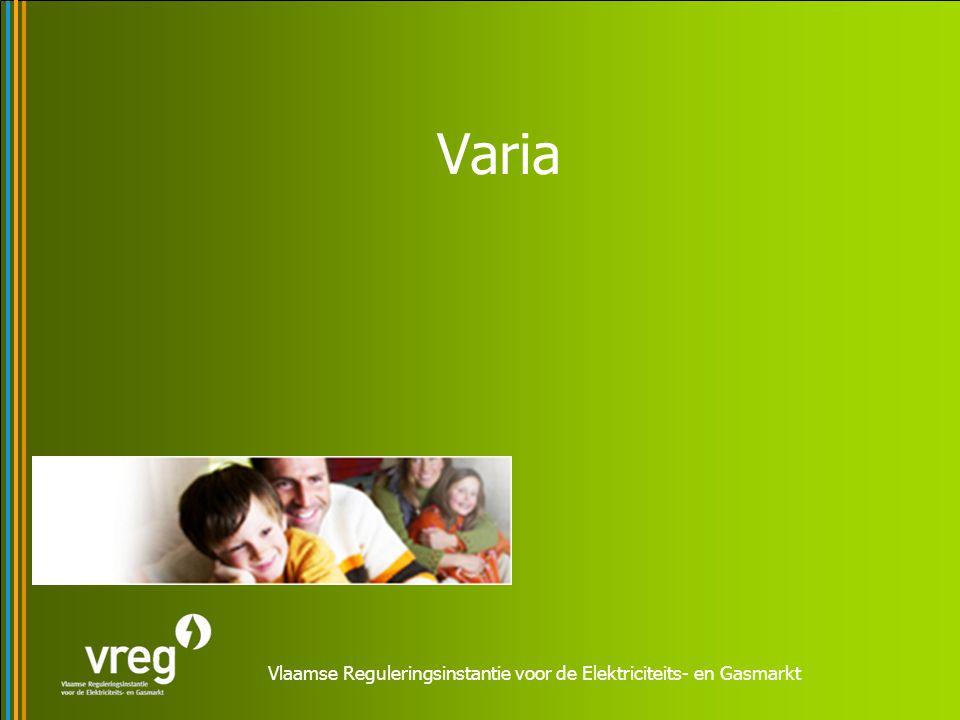 Vlaamse Reguleringsinstantie voor de Elektriciteits- en Gasmarkt Varia