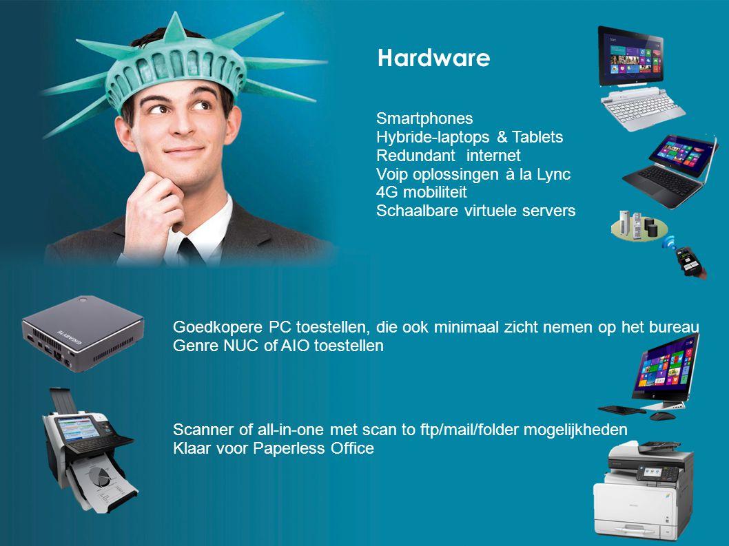 Hardware Scanner of all-in-one met scan to ftp/mail/folder mogelijkheden Klaar voor Paperless Office Goedkopere PC toestellen, die ook minimaal zicht