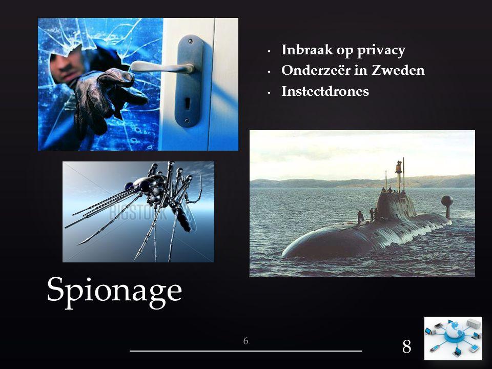Inbraak op privacy Onderzeër in Zweden Instectdrones Spionage 8 6