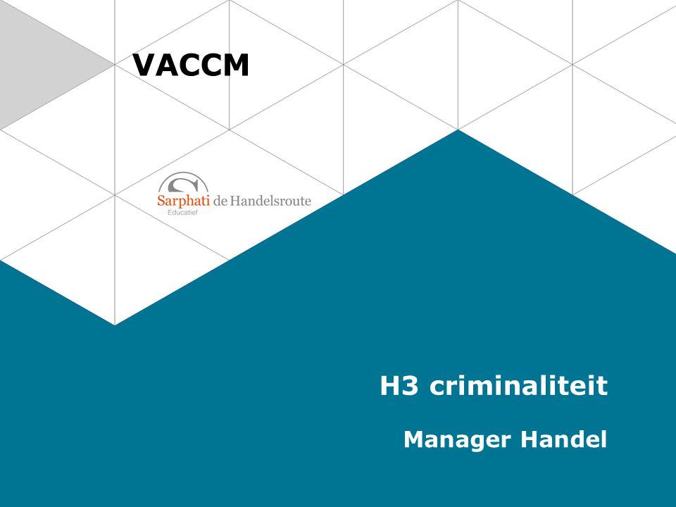 VACCM H3 criminaliteit Manager Handel