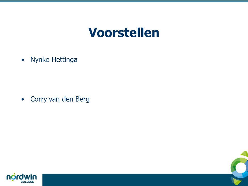 Voorstellen Nynke Hettinga Corry van den Berg