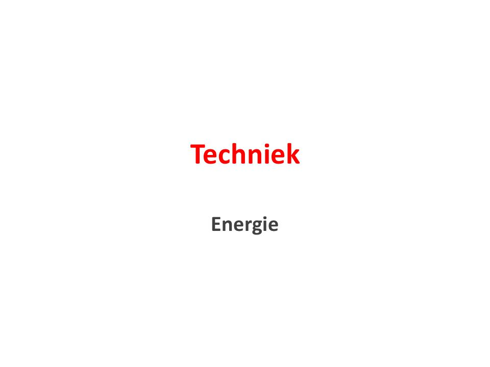 Wat is volgens jou energie? Wat weet je al van energie?