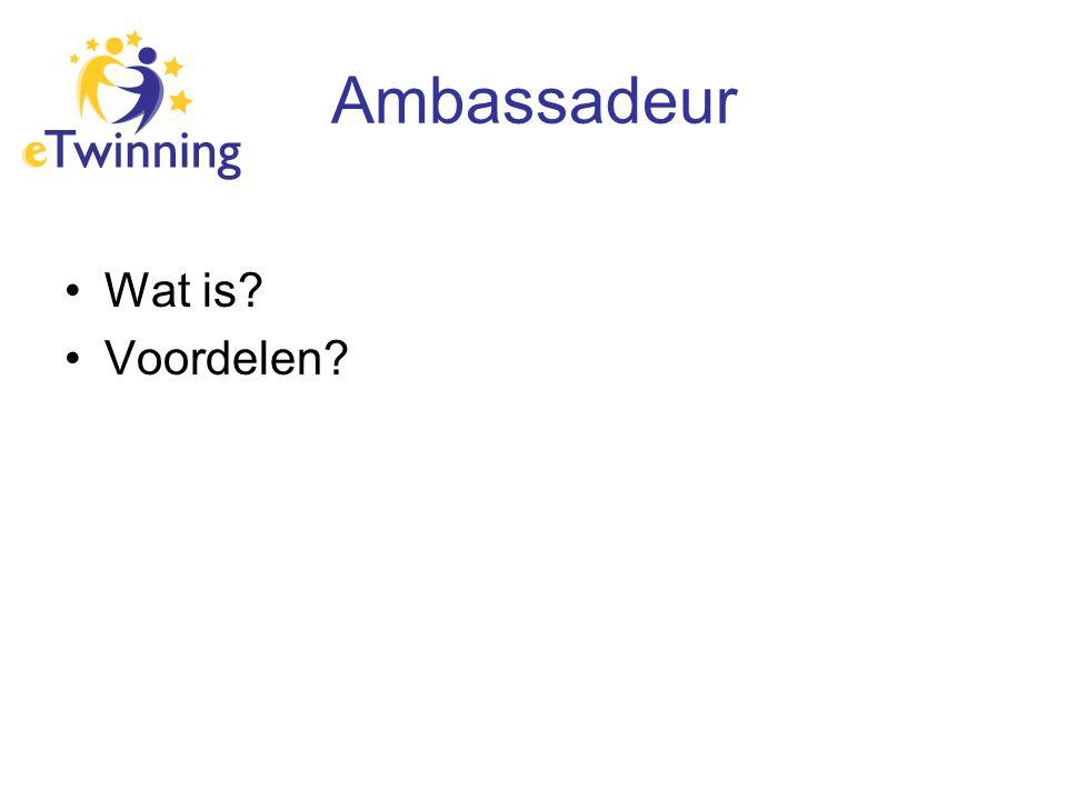 Ambassadeur Wat is? Voordelen?