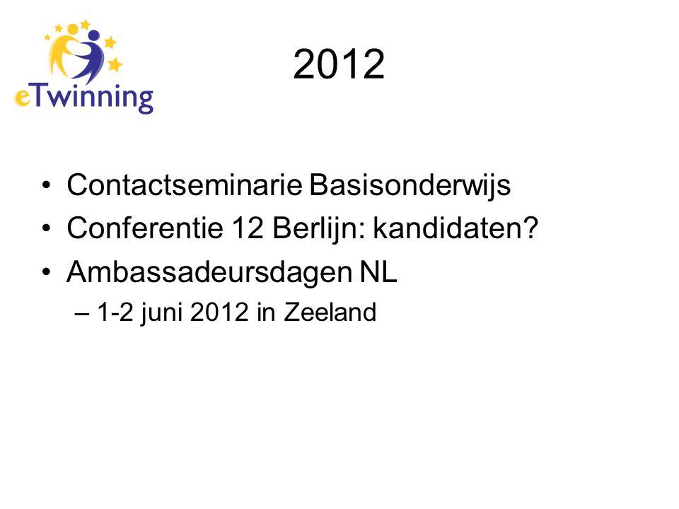 2012 Contactseminarie Basisonderwijs Conferentie 12 Berlijn: kandidaten.