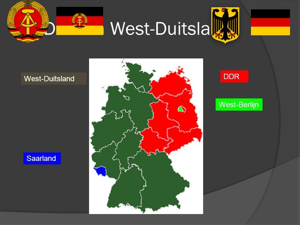 DDR en West-Duitsland West-Duitsland DDR West-Berlijn Saarland