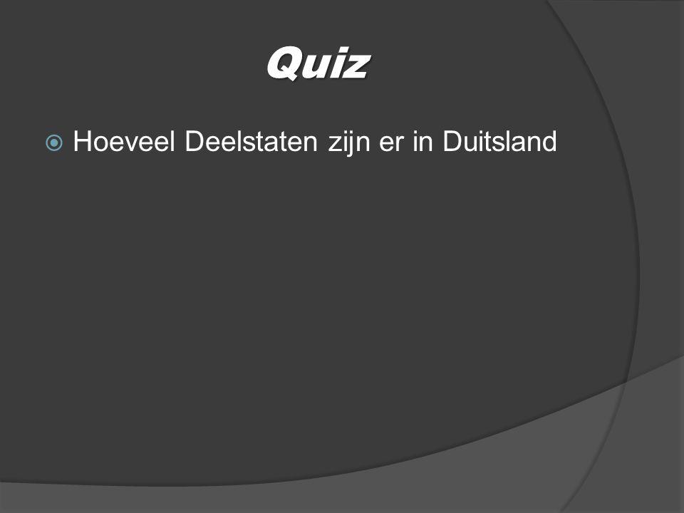 Quiz  Hoeveel Deelstaten zijn er in Duitsland