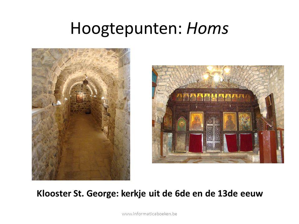 Hoogtepunten: Homs Klooster St. George: kerkje uit de 6de en de 13de eeuw www.informaticaboeken.be
