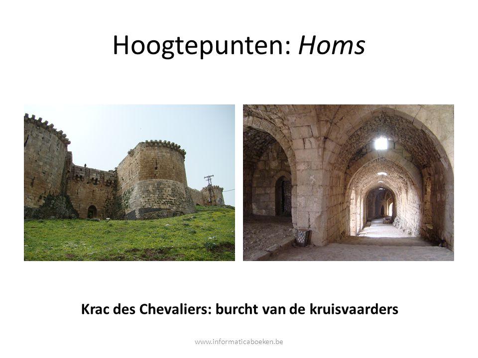 Hoogtepunten: Homs Krac des Chevaliers: burcht van de kruisvaarders www.informaticaboeken.be