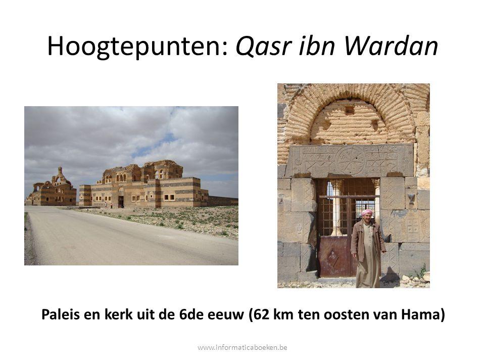 Hoogtepunten: Qasr ibn Wardan Paleis en kerk uit de 6de eeuw (62 km ten oosten van Hama) www.informaticaboeken.be