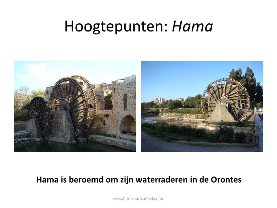Hoogtepunten: Hama Hama is beroemd om zijn waterraderen in de Orontes www.informaticaboeken.be