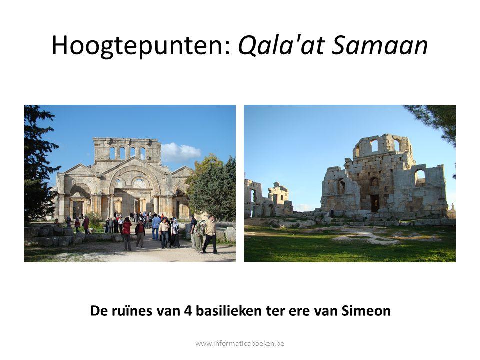 Hoogtepunten: Qala'at Samaan De ruïnes van 4 basilieken ter ere van Simeon www.informaticaboeken.be