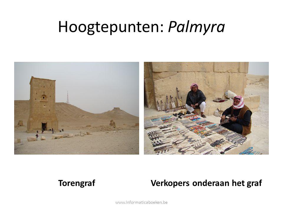 Hoogtepunten: Palmyra TorengrafVerkopers onderaan het graf www.informaticaboeken.be