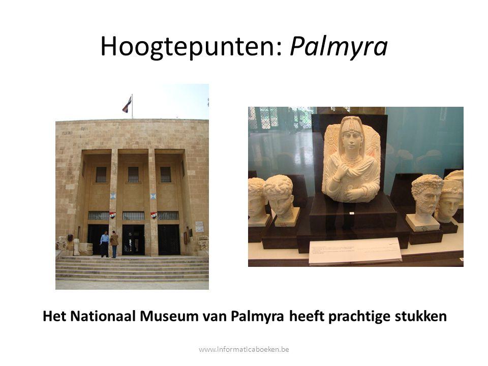 Hoogtepunten: Palmyra Het Nationaal Museum van Palmyra heeft prachtige stukken www.informaticaboeken.be
