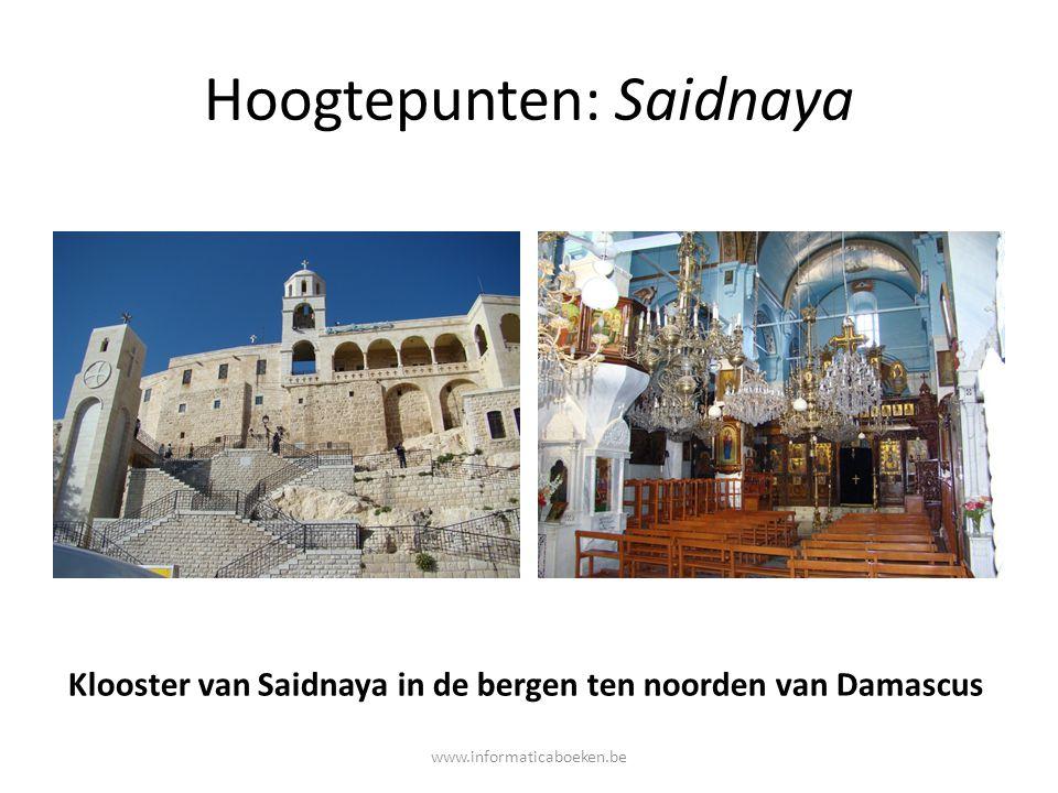Hoogtepunten: Saidnaya Klooster van Saidnaya in de bergen ten noorden van Damascus www.informaticaboeken.be