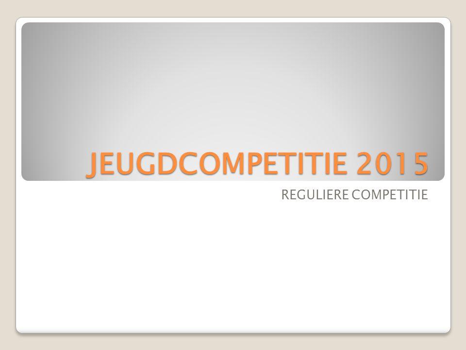 JEUGDCOMPETITIE 2015 REGULIERE COMPETITIE