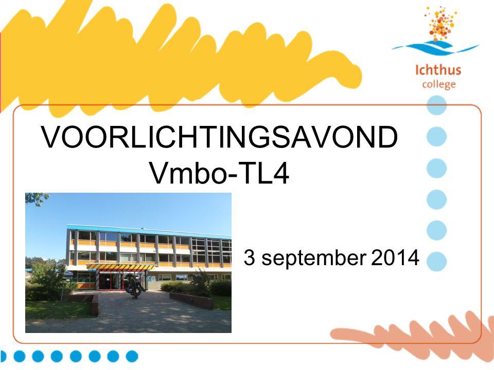 VOORLICHTINGSAVOND Vmbo-TL4 3 september 2014