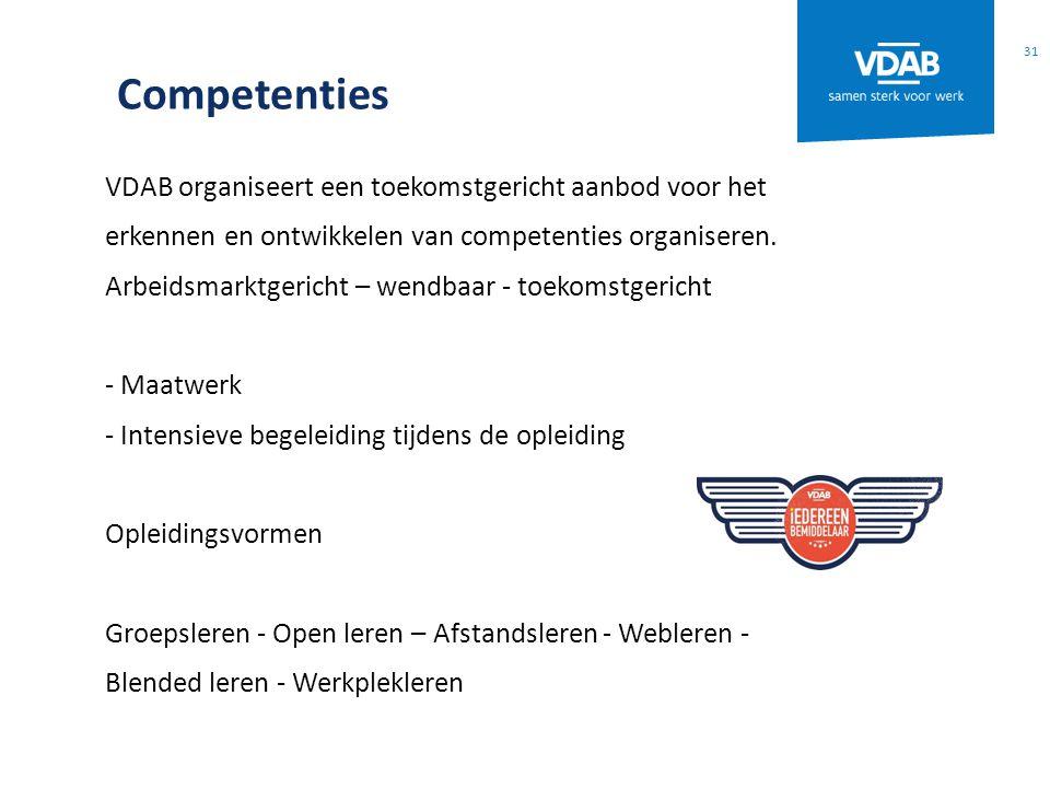 Competenties VDAB organiseert een toekomstgericht aanbod voor het erkennen en ontwikkelen van competenties organiseren. Arbeidsmarktgericht – wendbaar