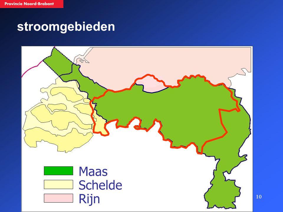 10 Maas Schelde Rijn stroomgebieden