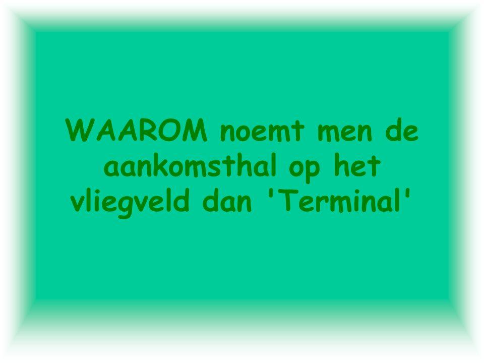 WAAROM noemt men de aankomsthal op het vliegveld dan Terminal