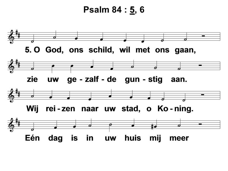 5 Psalm 84 : 5, 6