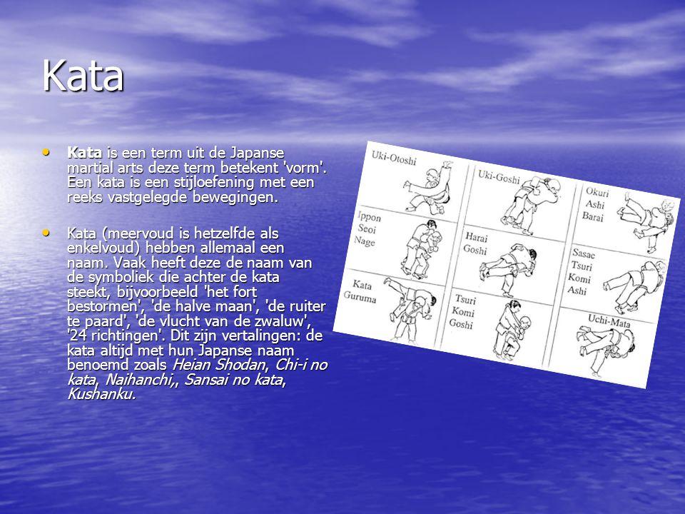 Kata Kata is een term uit de Japanse martial arts deze term betekent vorm .