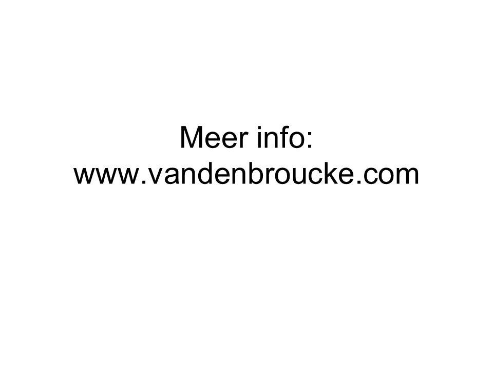 Meer info: www.vandenbroucke.com