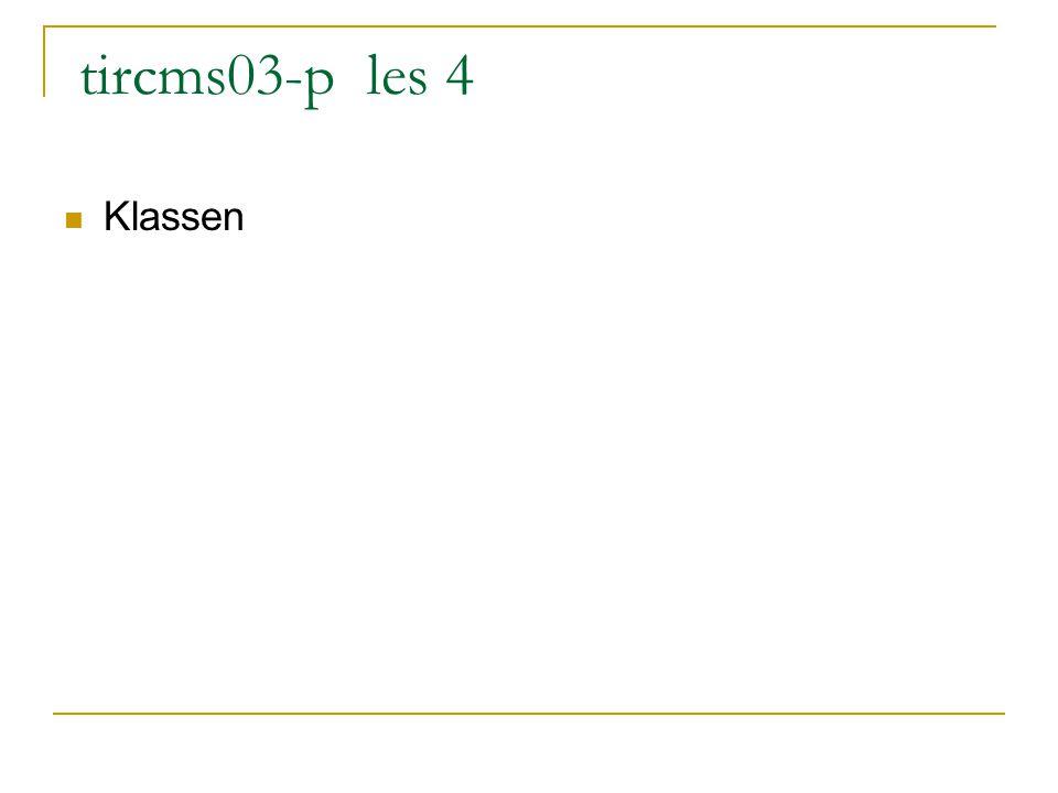 tircms03-p les 4 Klassen
