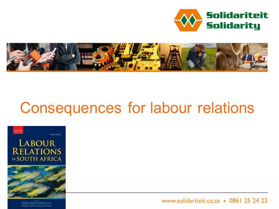 Titel van aanbieding – Subtitel van aanbieding Naam van aanbieder Plek, Datum Consequences for labour relations