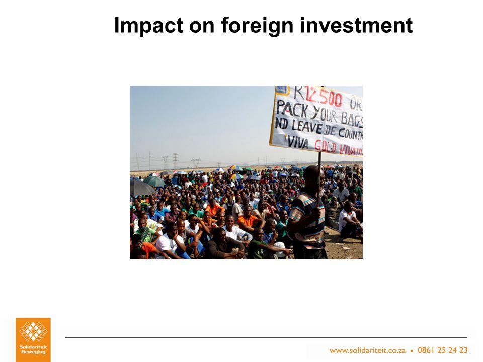 Titel van aanbieding – Subtitel van aanbieding Naam van aanbieder Plek, Datum Impact on foreign investment